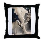 Elephant Dust Bath Throw Pillow