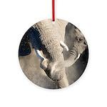Elephant Dust Bath Ornament (Round)