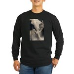 Elephant Dust Bath Long Sleeve Dark T-Shirt