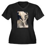 Elephant Dust Bath Women's Plus Size V-Neck Dark T