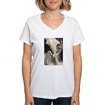 Elephant Dust Bath Women's V-Neck T-Shirt