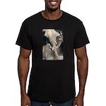 Elephant Dust Bath Men's Fitted T-Shirt (dark)