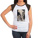 Elephant Dust Bath Women's Cap Sleeve T-Shirt