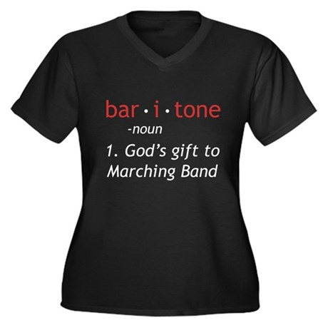 Definition of a Baritone Women's Plus Size V-Neck