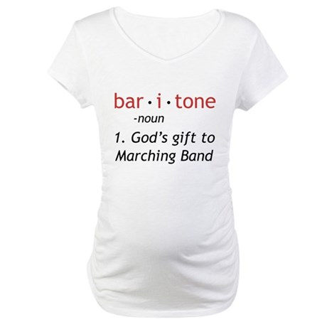 Definition of a Baritone Maternity T-Shirt