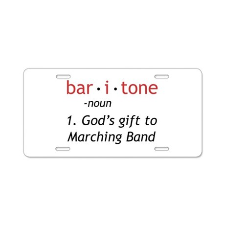 Definition of a Baritone Aluminum License Plate