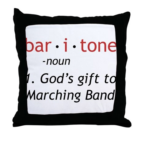 Definition of a Baritone Throw Pillow