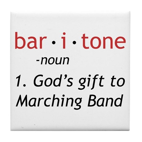 Definition of a Baritone Tile Coaster