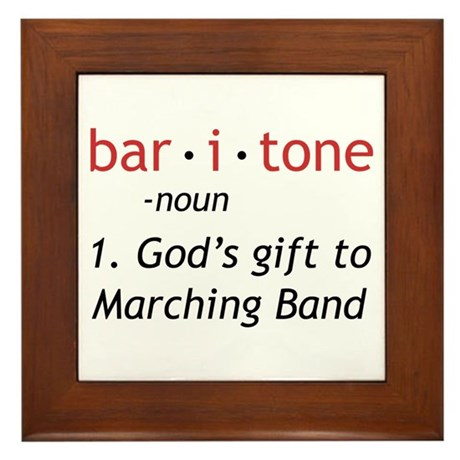 Definition of a Baritone Framed Tile