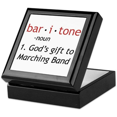 Definition of a Baritone Keepsake Box