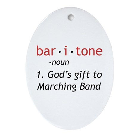 Definition of a Baritone Ornament (Oval)
