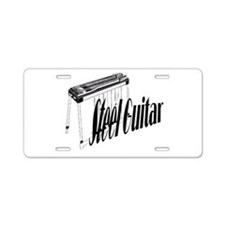 Steel Guitar Aluminum License Plate