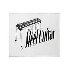 Steel Guitar Throw Blanket