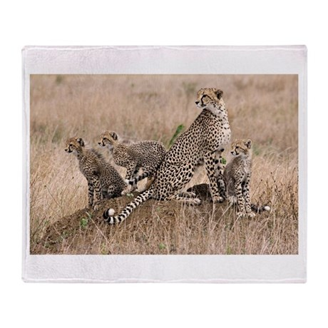 Cheetah Family Throw Blanket