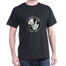 Build Fence US Border Patrol  Black T-Shirt