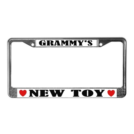 Grammy's New Toy License Plate Frame