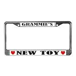 Grammie's New Toy Grandma License Frame