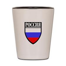 Russia (in Russian) Patch Shot Glass