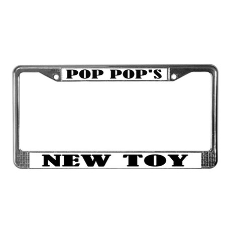 Pop Pop's New Toy License Plate Frame