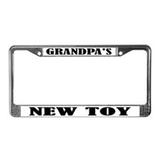 Grandpa's New Toy License Plate Frame