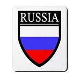 Russia Flag Patch Mousepad