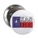 Texas Girl with Flag 2.25&quot; Button (10 pack)