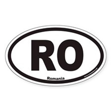 Romania RO Euro Oval Decal