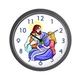 &quot;Jesus &amp; Child&quot; Wall Clock