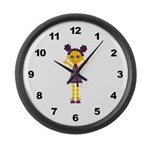 Girls Large Wall Clock