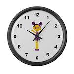 Girls Large Wall Clock