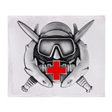 Diving Medical Technician Throw Blanket