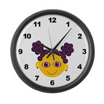 Girl Large Wall Clock