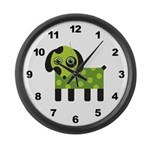 Dog Large Wall Clock