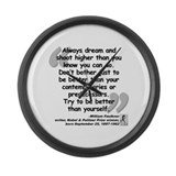 Faulkner Better Quote Large Wall Clock