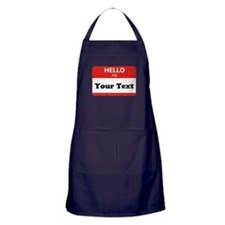 Hello I'm YOUR TEXT Apron (dark)