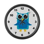 Blue Owl Large Wall Clock