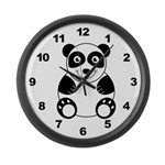 Panda Bear Large Wall Clock