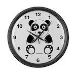 Panda Bear Large Wall Clock