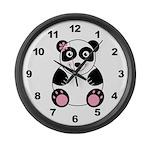 Girl Panda Large Wall Clock