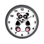Girl Panda Wall Clock