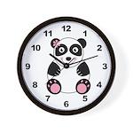 Girl Panda Wall Clock