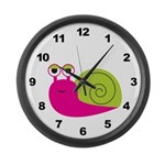 Girl Snail Large Wall Clock