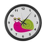 Girl Snail Large Wall Clock