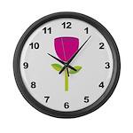Tulip Flower Large Wall Clock