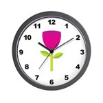 Tulip Flower Wall Clock