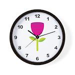 Tulip Flower Wall Clock