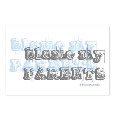 Blame My Parents, Funny Postcards (Package of 8)
