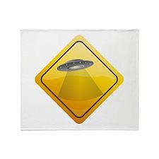 UFO Crossing Throw Blanket