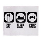 Eat Sleep Game! Throw Blanket