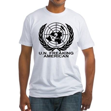 U.N. FREAKING AMERICAN Fitted T-Shirt